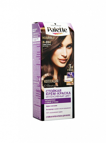 424342 PALETTE HAIR DYE ICC 6-280 METALLIC DARK BLONDE 4015100218251