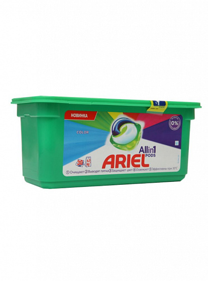 468000 ARIEL PODS FOR COLORED CLOTHERS 30 PIECES 8001090758446